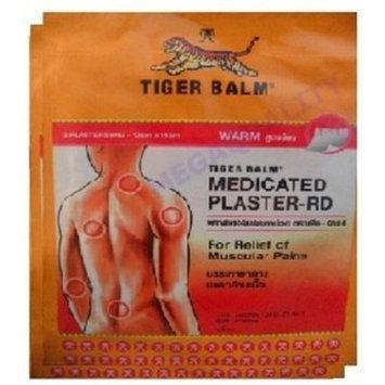 BIG Size Tiger Balm Patch Plaster Warm Medicated Pain Relief 4 Pcs.(10x14 Cm.)., Thailand.