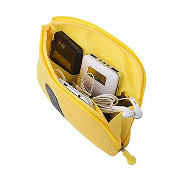 Fashion Creative Business Travel Multifunctional Shockproof Digital Storage Bag Charger Headset Data Cable Makeup Mobile-phone Case (Yellow)