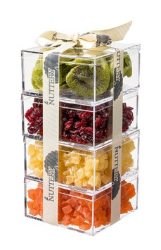 The Nuttery Ny The Nuttery Premium Dried Fruit Gourmet Gift Tower ~ Kiwi ~ Cranberry ~ Pineapple ~ Papaya
