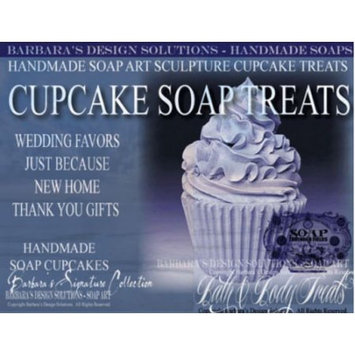 Barbara's Design Solutions Handmade Soap Bath and Body Sculpture Cupcake Treats Lavender Fields Gift Sets by B.D.S. All Rights Reserved.