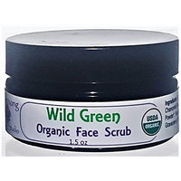 Flowersong Wild Green Organic Face Scrub - Pamper and Smooth Your Face with Chamomile and Hibiscus