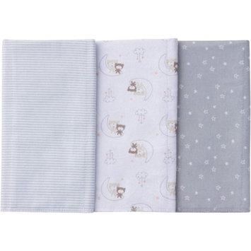 5772 Gerber Legendary Blades Gerber Newborn Baby Boy or Girl Unisex Assorted Flannel Burp Cloths, 3-Pack