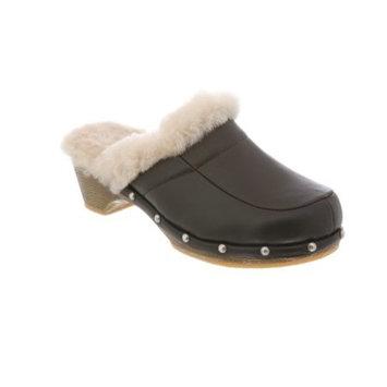 RJ's Fuzzies Black Leather Monica Clogs Shoes (Size 5) RJS 107-5