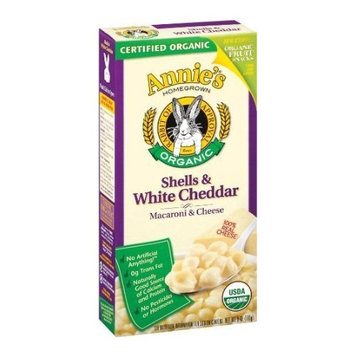 Annie's Homegrown Organic Shells and White Cheddar 6 oz (Pack of 3)