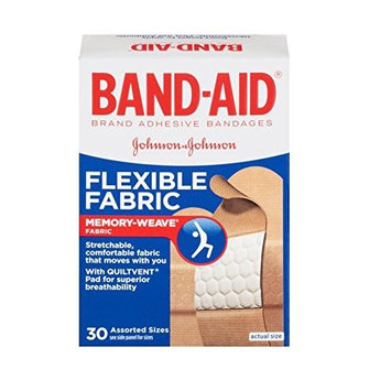 6 Pack - BAND-AID Bandages Flexible Fabric Assorted Sizes 30 Each
