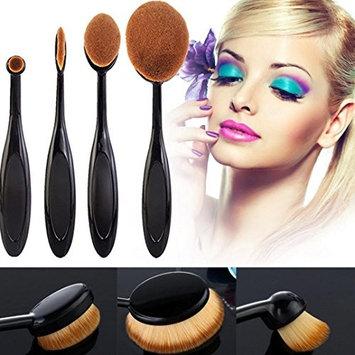 TOPBeauty 4Pcs/Set Toothbrush Shape Eyebrow Makeup Foundation Brush Powder Brush Kits