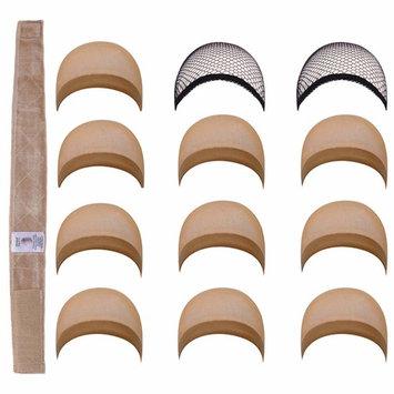 SEIKEA Elastic Wig Grip Band 10 Pack Brown Wig Cap for Women 2 Pack Mesh Black Wig Cap