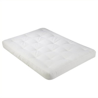 Wolf USF-8110 8 Inch Futon Mattress with 2 - 1 Inch Foam in Natural [bed size-full]