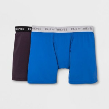 Pair of Thieves Men's SF 2pk Boxer Briefs - Purple/Blue
