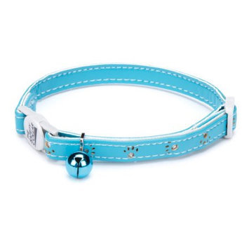 Savvy Tabby Sparkle Paw Cat Collar Blue