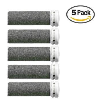 Foot Solutions Super Coarse Emjoi Micro-Pedi Refills Rollers Compatible with Emjoi Micro-Pedi Callus Remover (5 PACK-Gray)