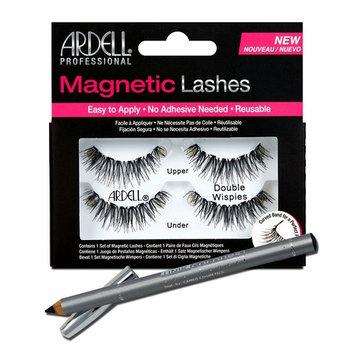Ardell Professional Double Demi Wispies Magnetic Lashes + Unikcolours Black Eyeliner Pencil - Eye Makeup Set