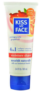 Kiss My Face Moisture Shave Pomegranate Grapefruit - 3.4 oz - Cream