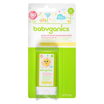 Babyganics Cover Up Baby Sunscreen Stick SPF 50 Fragrance Free 0.47 oz.(pack of 3)