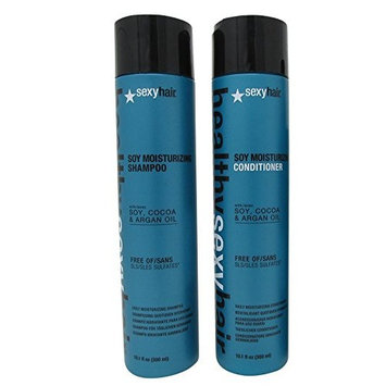 Bundle-2 Items : Sexy Hair Healthy Moisturizing Shampoo & Conditioner Duo 10oz each