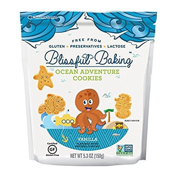 Blissful Baking Ocean Adventure Cookies Vanilla - Free From Gluten, Preservatives & Lactose, 5.3 Ounce, (Pack of 1)