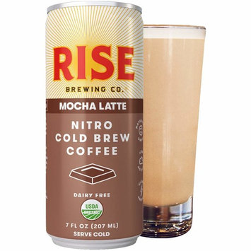RISE Brewing Co. | Mocha Nitro Cold Brew Latte (12 7 fl. oz. Cans) - USDA Organic, Non-GMO | Vegan & Dairy Free | Clean Energy, Low Acidity, Slightly Sweet & Refreshingly Smooth | 150 Calories