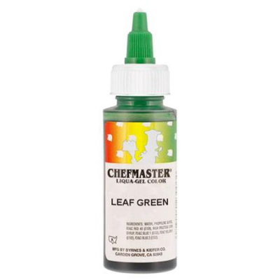 Chefmaster by US Cake Supply 2.3-Ounce Leaf Green Liqua-Gel Cake Food Coloring