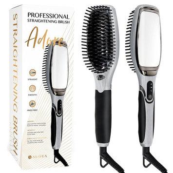 AsaVea Professional Hair Straightening Brush (Black/Grey)