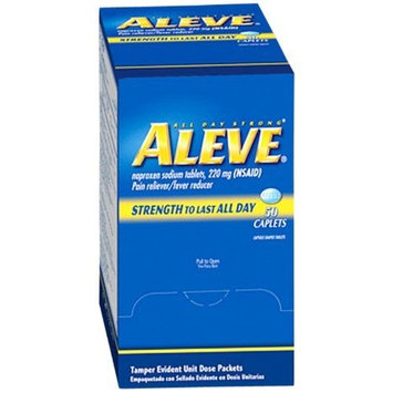 Aleve Naproxen Tablet Pain Reliever Fever Reducer (50 Tab. /Box) 6 Boxes (300 tablets) by Medique MS70545