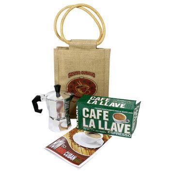 Cuban Coffee Kit gift bag.