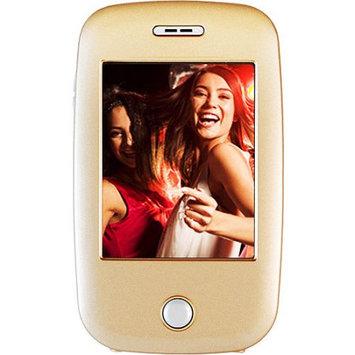 Ematic 3 inch Touch Screen Color MP3 Video Player 4GB with Built-In 5 MP Digital Camera with Video Recording, TV Out and Speaker - Champagne Gold