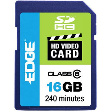 Edge Memory Edge 16GB SDHC HD Video Card, Class 6 PE222604