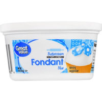 Wal-mart Stores, Inc. Great Value Blue Buttercream Fondant, 8 oz