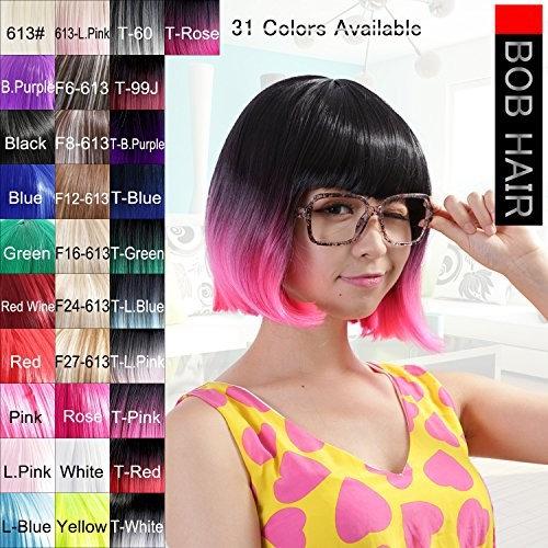 "Neitsi 100% Kanekalon Fiber 14""(35cm) Women's Cosplay Short Synthetic BOB Hair Wigs Halloween Party"