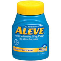 Aleve ALL DAY Strong Pain/fever Reducer Naproxen Sodium Tablets , 220 Mg (Nsaid) - 320 Caplets