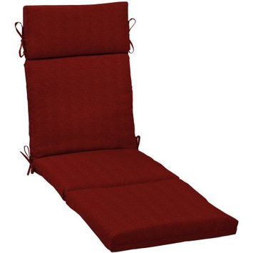 Arden Companies Arden Outdoors Chaise Lounge Cushion, Red Rib Woven
