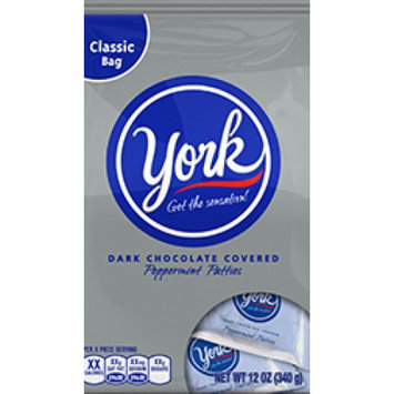 York Dark Chocolate Peppermint Patties Classic Bag - 12oz