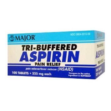 MAJOR TRI-BUFFERED ASPIRIN TAB ASPIRIN-325 MG White 100 TABLETS UPC