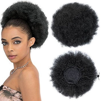 Ayana 11 inch Afro Drawstring Ponytail Synthetic Curly Hair Ponytail Short Afro Kinky Curly Wrap Ponytail Drawstring Puff Ponytail Hair Pieces