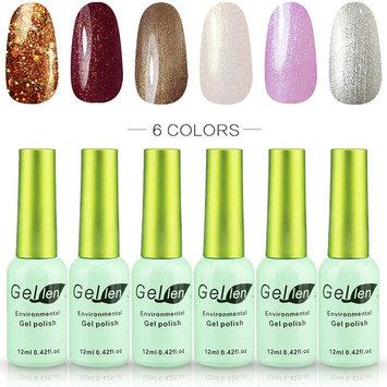 Gellen Gel Nail Polish Set - Elegance Cold Grays Series, Trendy Nail Art 6 Colors Kit