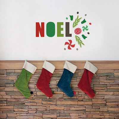 Trendy Peas Noel Fabric Wall Decal