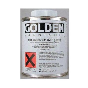 Golden MSA Varnish Gloss with UVLS - 16 oz Bottle