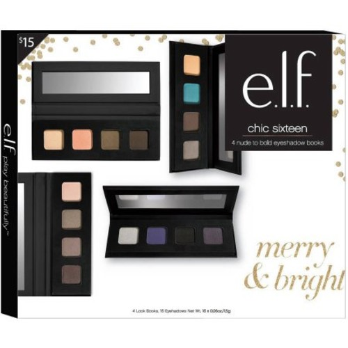 e.l.f. Chic Sixteen Nude to Bold Eyeshadow Books