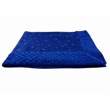 Blue Baby Bum 710560426171 Forever Baby Blanket with Golden Stars Navy & Gold - Size 1