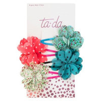 Ta-da Patterned Flowery Contour Clips - 4pc