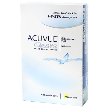 ACUVUE OASYS Annual Supply Pack for 1-WEEK Overnight Use Contacts