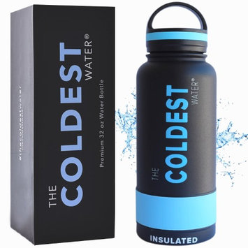 The Coldest Water Bottle 32 oz Wide Mouth Insulated Stainless Steel Hydro Thermos - Cold up to 36 Hrs / Hot 13 Hrs Double Walled Flask with Strong Cap