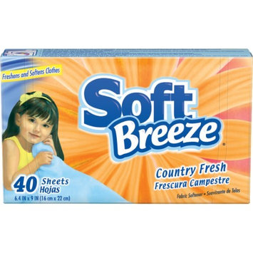 Soft Breeze Dryer Sheets, Country Fresh, 40 Loads