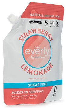 Everly Hydration - Strawberry Lemonade - Natural Powdered Drink Mix - 30 servings in Pouch - Sugar Free, Low Calorie