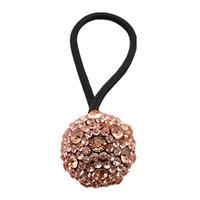 Homyl Women Diamante Elastic Hair Tie Band Rope Ring Ponytail Holder - Champagne, as described