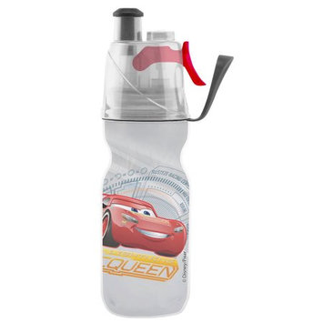 O2 Cool O2Cool Mist 'N Sip ArcticSqueeze 12oz Double-Walled Insulated Kids' Cars 3 Water Bottle