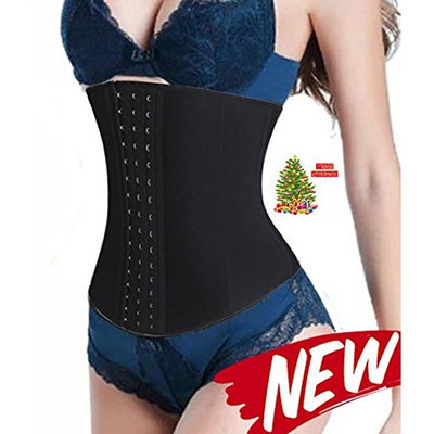 Ursexyly Latex Belly Cincher, Women Corset 14 Steel Bone Ultra Firming Fast