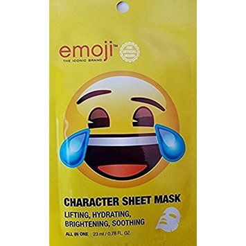 emoji The Iconic Official Laugh Cry Face All-in-One Sheet Mask, 8 Masks