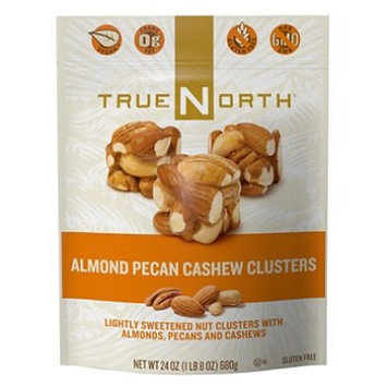 True North 100% Natural Clusters, Almond, Pecan, Cashews, Family Value 2 Pack ( 24 Ounce Each)