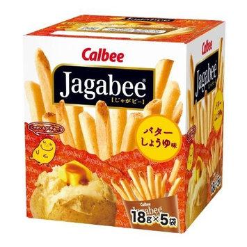 Calbee Potato Sticks -- Jagabee (Butter Soy Sauce Taste), 3.17oz (18g X5pack)